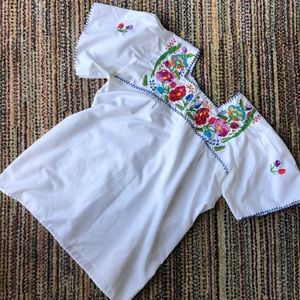 Authentic Mexican embroidered top